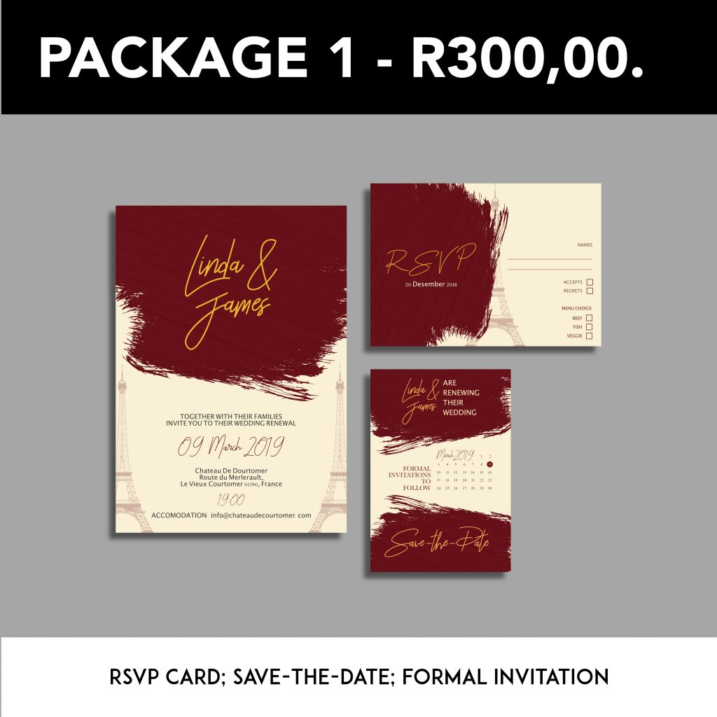 wedding stationery graphic design package